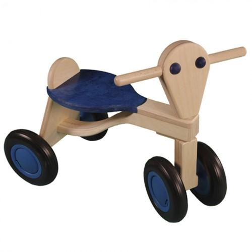 Van dijk toys Holz Laufrad Blau - Birke