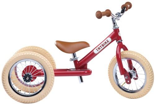 Trybike Laufrad 2-in-1 Steel - Vintage Rot