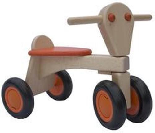 Van Dijk Toys Holz Laufrad Orange - Buche