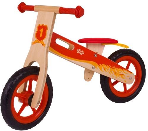 BigJigs Holz Laufrad Rot